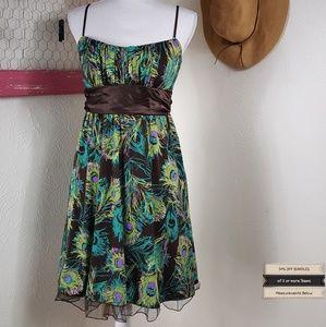Like New! Ruby Rox Peacock Tie Back Dress
